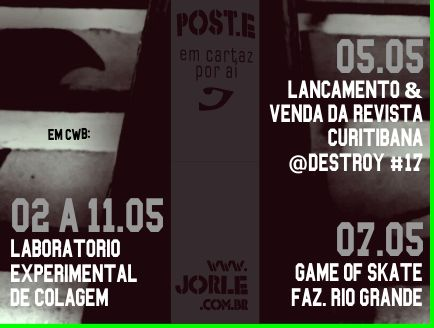 Clubedacolagem-colagem-arte-artecolagem-destroy-graffiti-curitibagraffiti-skate-skateboarding-skatefazendariogrande- HeitorStocklerDeFranca-PracadeBolsodoCiclista-JorgeAndriguetto-Curitibaunderground-underground-cultura-alternativa- ondeircuritiba-cwb