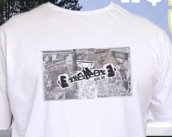 Camiseta Eixo Mole Skate Zine - Detalhe